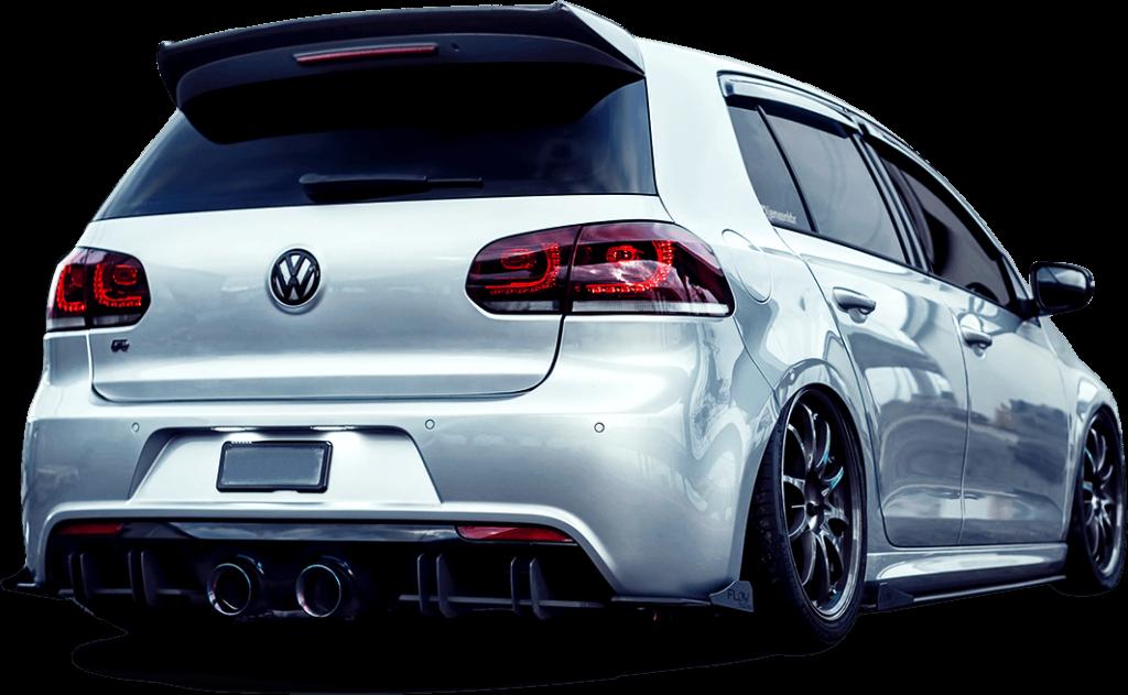 mk6r rear 01 1024x631 - Volkswagen MK6 Golf R Splitter Set